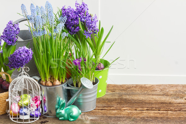 Easter in garden Stock photo © neirfy