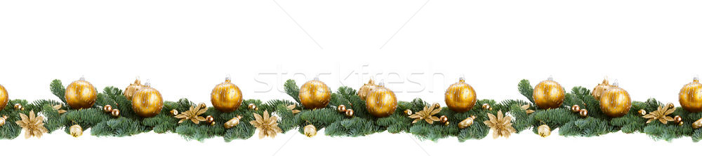 evergreen fir tree and red christmas ball Stock photo © neirfy