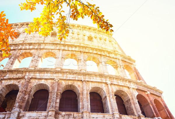 Колизей закат Рим Италия руин Сток-фото © neirfy
