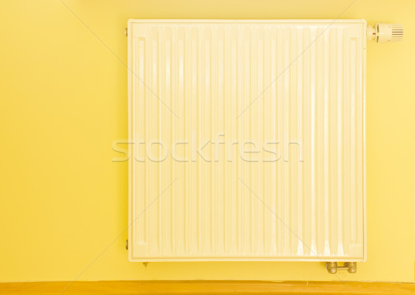 white heater with thermostat Stock photo © neirfy
