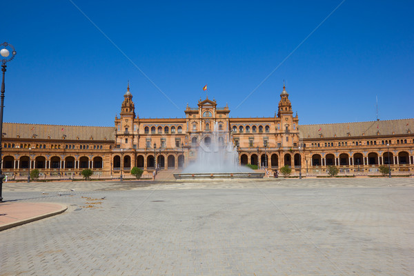 view of Plaza de España, Seville, Spain Stock photo © neirfy