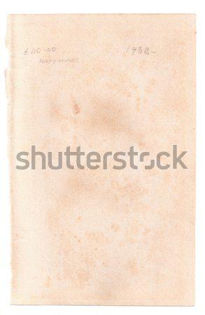 Página velho livro branco papel abstrato Foto stock © neirfy