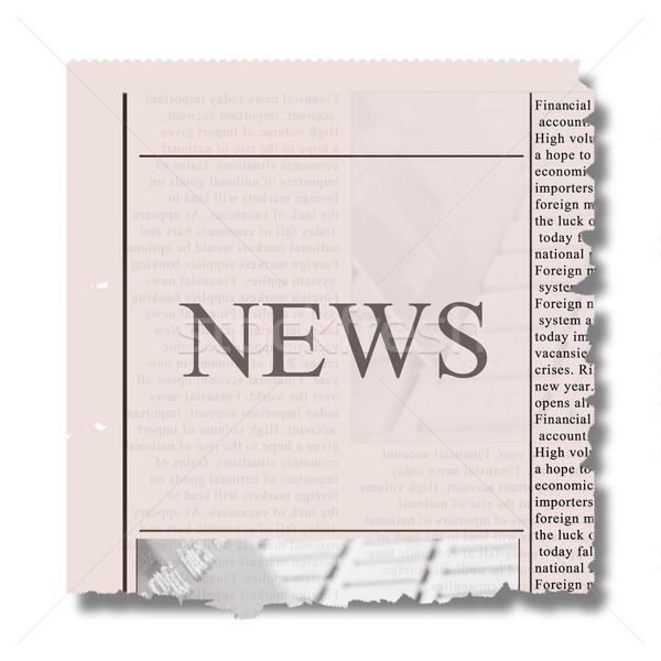 Stuk krant nieuws brieven papier communicatie Stockfoto © neirfy