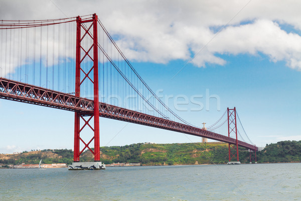 Puente Lisboa río Portugal cielo ciudad Foto stock © neirfy