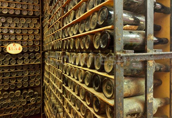 pile of vintage  wine bottles Stock photo © neirfy