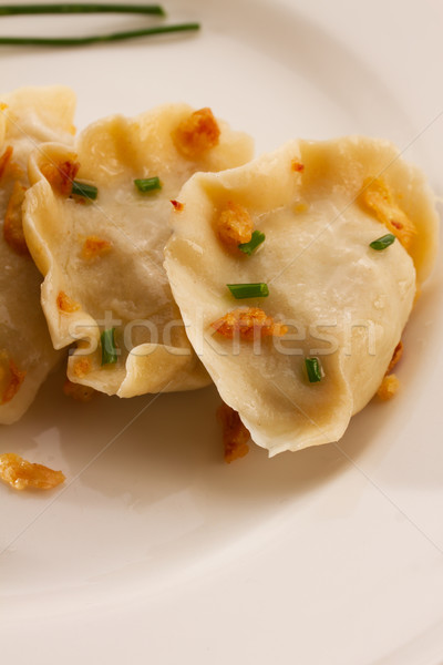 polish pierogi dish Stock photo © neirfy