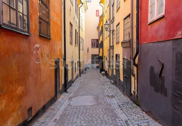 старый город улице Стокгольм Швеция мнение дороги Сток-фото © neirfy