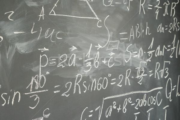 math formulas on black board Stock photo © neirfy