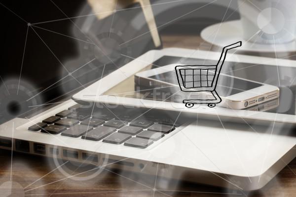 Mobile shopping concept Stock photo © neirfy
