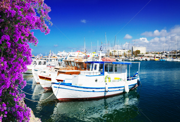 old port of Heraklion, Crete, Greece Stock photo © neirfy