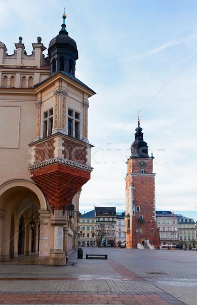 Mercado cuadrados cracovia Polonia histórico edificio Foto stock © neirfy