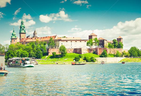 Wawel hill in Krakow, Poland Stock photo © neirfy
