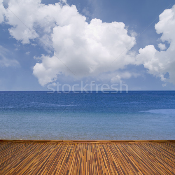 seascape with clouds Stock photo © neirfy