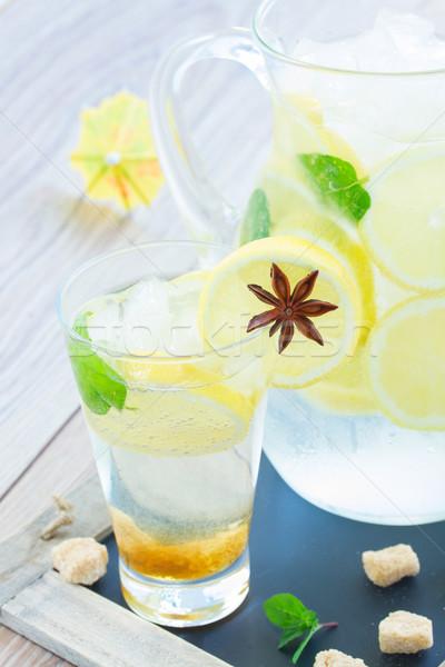 tall glass of lemonad Stock photo © neirfy