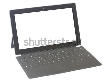 Tabletta billentyűzet izolált fehér copy space kirakat Stock fotó © neirfy