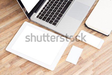 Modern working place Stock photo © neirfy