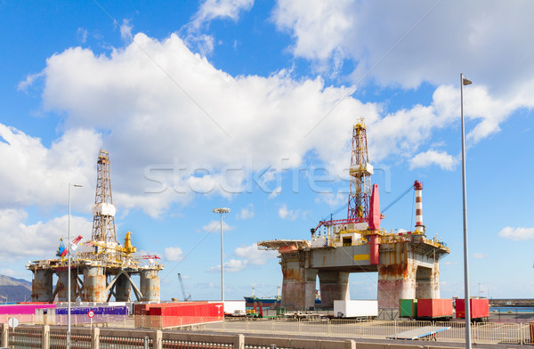 oilp platform at port Stock photo © neirfy