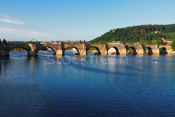 Charles bridge over river Vltava Stock photo © neirfy