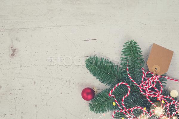 クリスマス シーン 装飾 コピースペース レトロな ツリー ストックフォト © neirfy