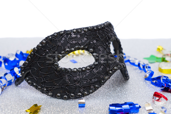 Mask with masquerade decorations Stock photo © neirfy