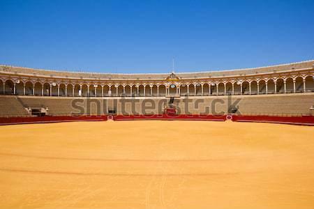 Stock photo: bullfight arena  in Seville, Spain