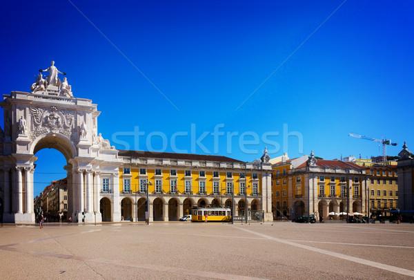 アーチ リスボン ポルトガル 歴史的 建物 コマース ストックフォト © neirfy