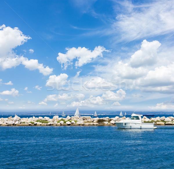 Seenlandschaft blau Ozean Meer Stock foto © neirfy