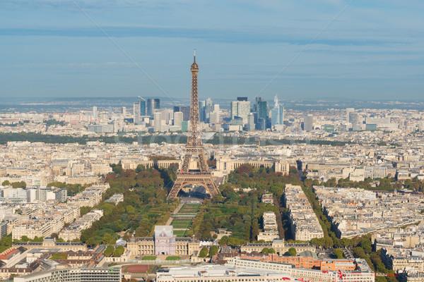 Torre Eiffel Paris cityscape acima França céu Foto stock © neirfy