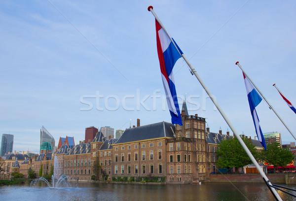 голландский парламент Голландии мнение флагами служба Сток-фото © neirfy