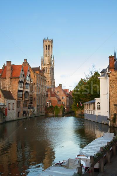 мнение старые Бельгия классический башни канал Сток-фото © neirfy