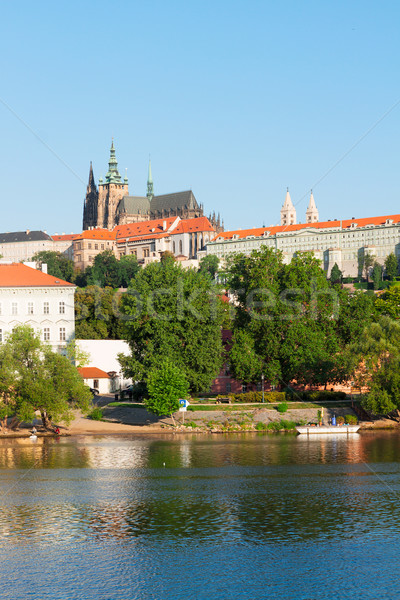 Vitus cathedral over Vltava river, Stock photo © neirfy