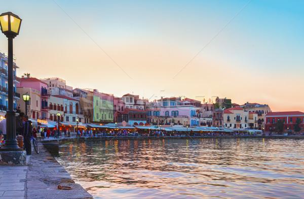 Veneziano turco mesquita colorido pôr do sol céu Foto stock © neirfy