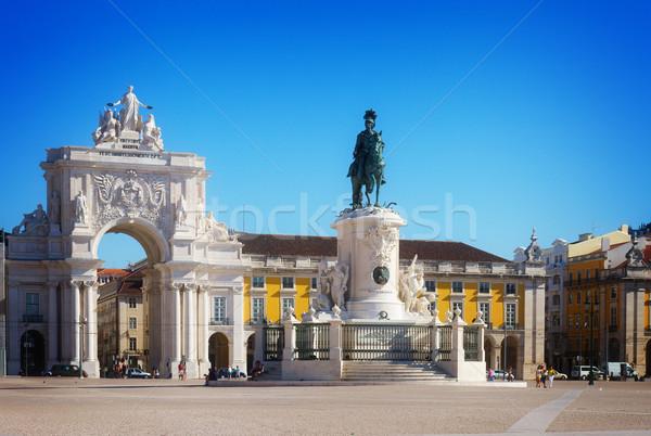 アーチ リスボン ポルトガル コマース 広場 レトロな ストックフォト © neirfy
