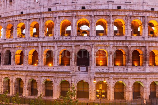 Colosseum Róma Olaszország kilátás homlokzat közelkép Stock fotó © neirfy