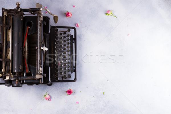 Workspace Vintage машинку черный серый Desktop Сток-фото © neirfy