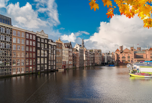 住宅 オランダ 典型的な オランダ語 古い 運河 ストックフォト © neirfy