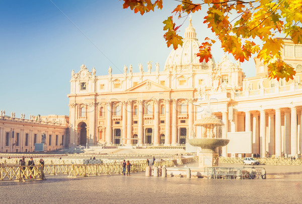 Catedral Roma Itália praça fonte cair Foto stock © neirfy