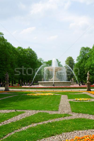 Park Warschau landschap Polen hemel water Stockfoto © neirfy