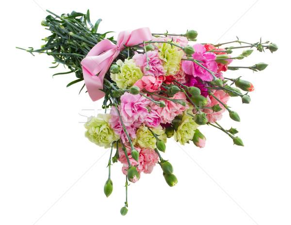 bouquet of carnation flowers Stock photo © neirfy