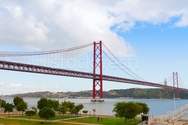 bridge of 25th April, Lisbon Stock photo © neirfy