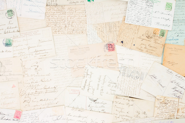 Manoscritto lettera set antichi lettere vintage Foto d'archivio © neirfy