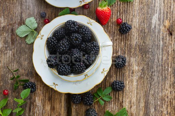 fresh blackberry Stock photo © neirfy