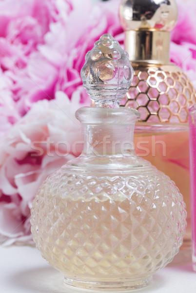 Lényeg üveg friss virágok természet test Stock fotó © neirfy