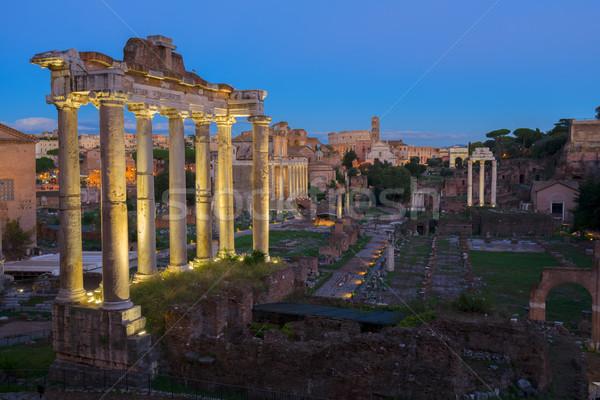 форуме римской руин древних ночь Сток-фото © neirfy