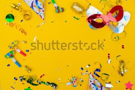 Brilhante colorido carnaval festa cena confete Foto stock © neirfy