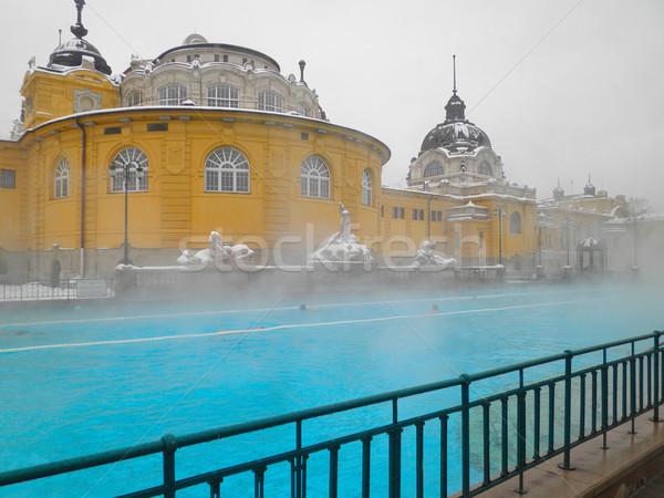 Szechenyi spa bath, Budapest Stock photo © neirfy