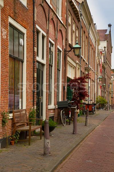 Città vecchia Holland colorato strada primavera strada Foto d'archivio © neirfy