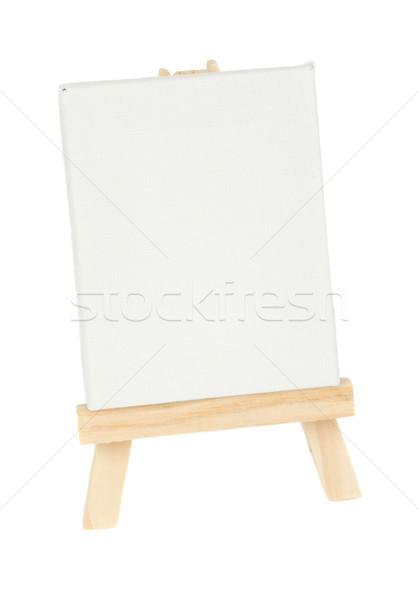 Sztaluga pusty biały płótnie odizolowany Zdjęcia stock © neirfy