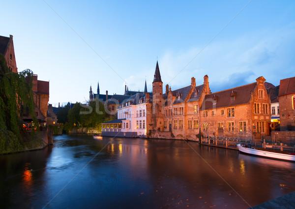 старые старый город канал воды дерево Сток-фото © neirfy