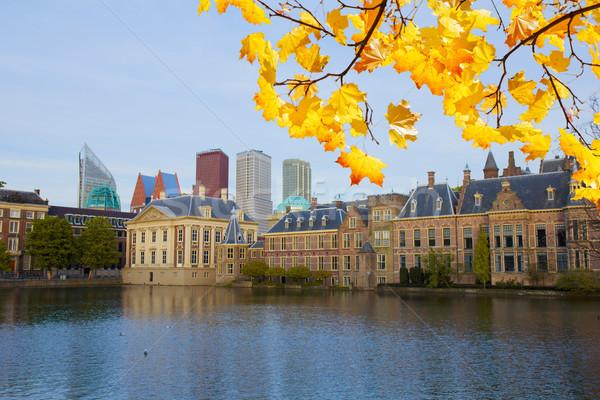 Сток-фото: Нидерланды · город · центр · старые · новых · осень